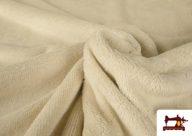Tela de Rizo de Bambú de Colores Pastel color Beige