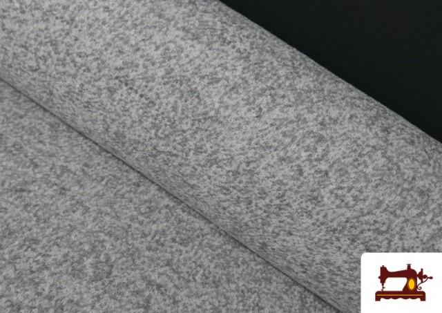 Tela de Baguilla de Punto Lana color Gris claro