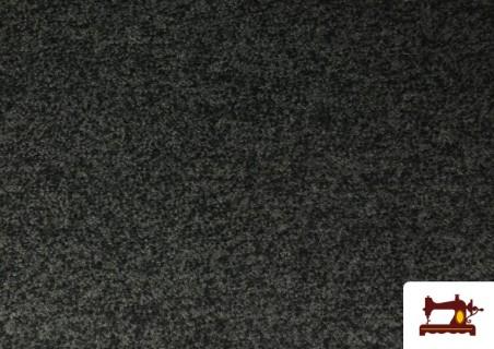 Tela de Baguilla de Punto Lana color Gris oscuro