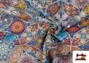 Venta online de Tela de Loneta Estampada  Vintage - Mandalas