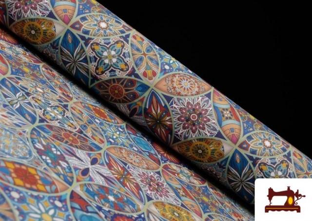 Tela de Loneta Estampada  Vintage - Mandalas