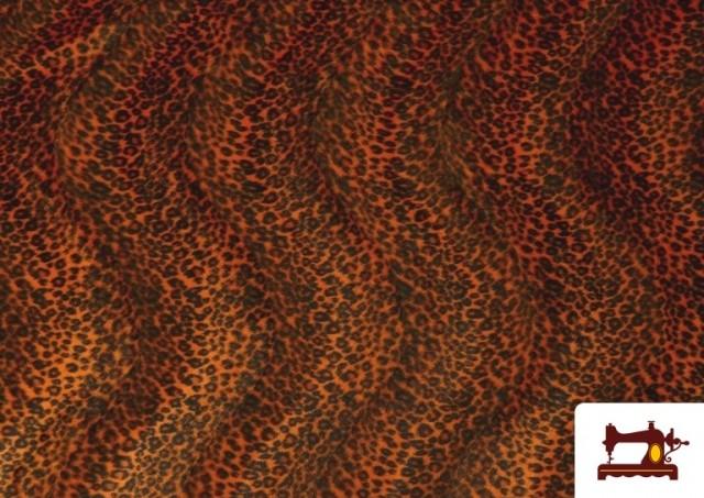 Venta online de Tela de pelo de leopardo de colores color Naranja