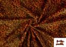 Tela de pelo de leopardo de colores color Naranja