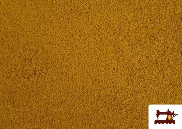 Venta de Tela para Toallas Rizo 100% Algodón de Colores color Mostaza