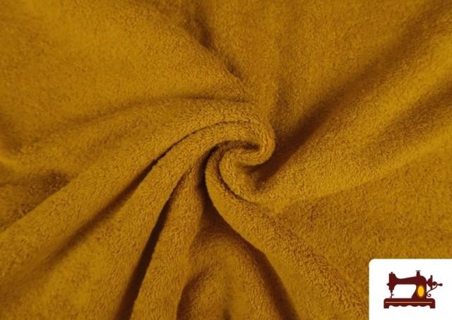 Tela para Toallas Rizo 100% Algodón de Colores color Mostaza