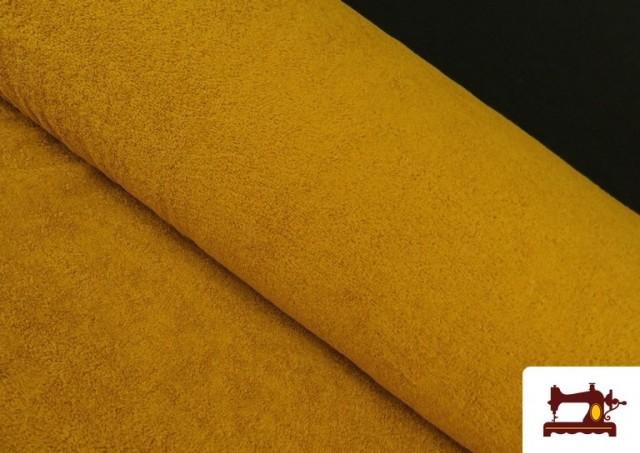 Comprar online Tela para Toallas Rizo 100% Algodón de Colores color Mostaza
