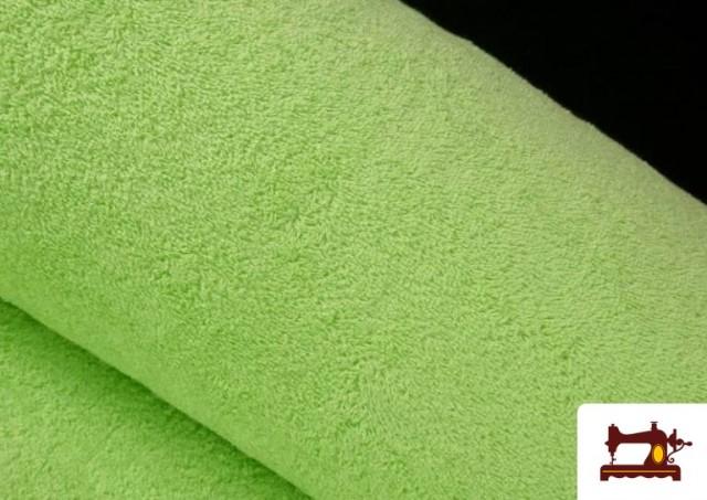 Venta de Tela para Toallas Rizo 100% Algodón de Colores color Verde mint