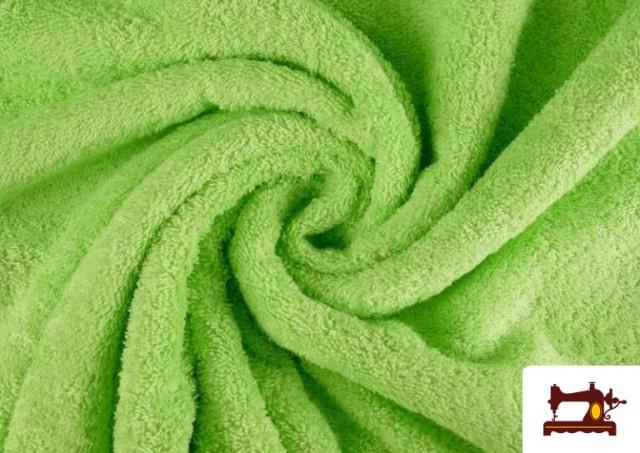 Comprar online Tela para Toallas Rizo 100% Algodón de Colores color Verde mint