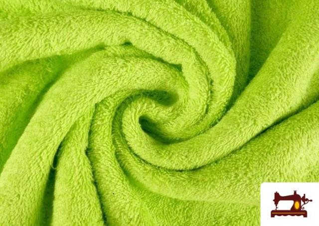 Tela para Toallas Rizo 100% Algodón de Colores color Pistacho