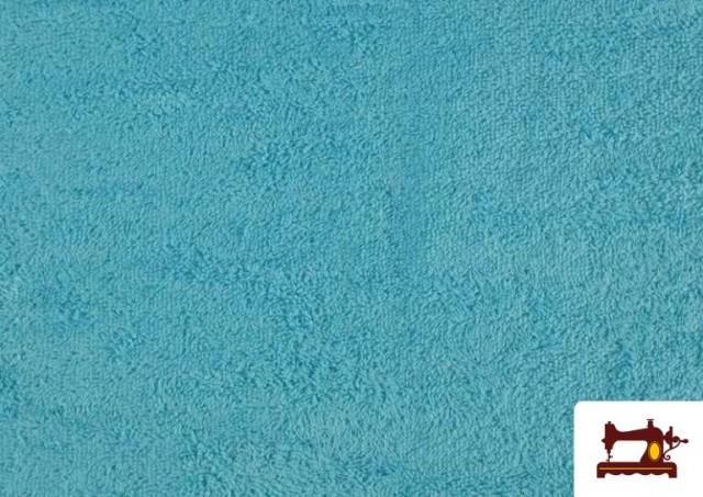 Comprar Tela para Toallas Rizo 100% Algodón de Colores color Azul turquesa