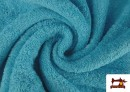 Venta de Tela para Toallas Rizo 100% Algodón de Colores color Azul turquesa