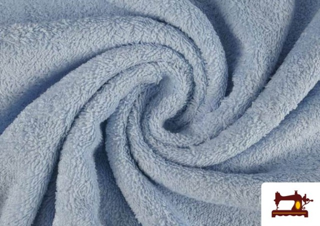 Venta online de Tela para Toallas Rizo 100% Algodón de Colores color Azul