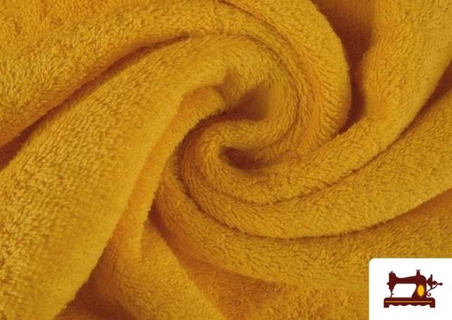 Tela para Toallas Rizo 100% Algodón de Colores color Amarillo