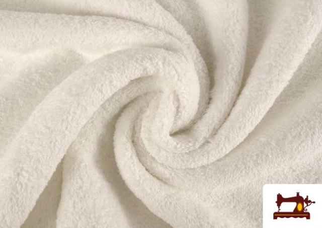 Comprar online Tela para Toallas Rizo 100% Algodón de Colores color Blanco