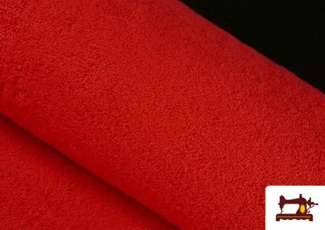 Venta online de Tela para Toallas Rizo 100% Algodón de Colores color Rojo