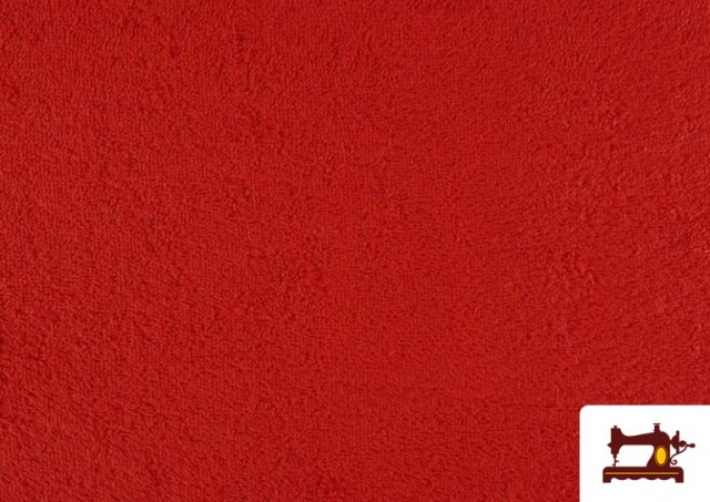 Tela para Toallas Rizo 100% Algodón de Colores color Rojo