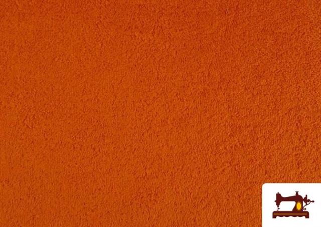Comprar Tela para Toallas Rizo 100% Algodón de Colores color Naranja