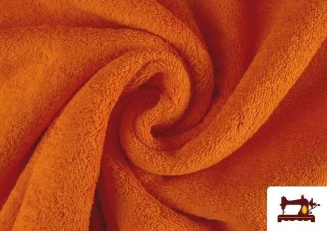 Venta de Tela para Toallas Rizo 100% Algodón de Colores color Naranja