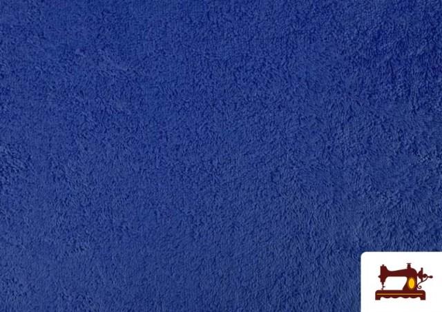 Comprar online Tela para Toallas Rizo 100% Algodón de Colores color Azul azafata