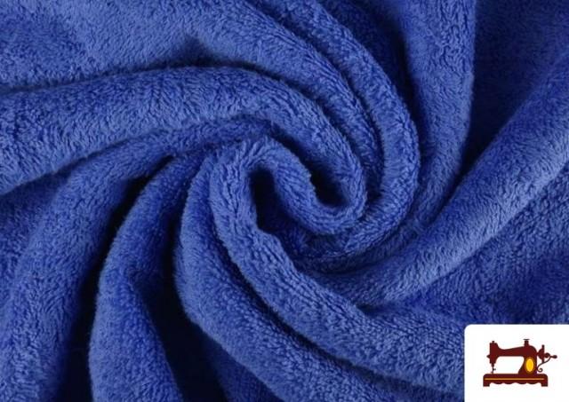 Tela para Toallas Rizo 100% Algodón de Colores color Azul azafata
