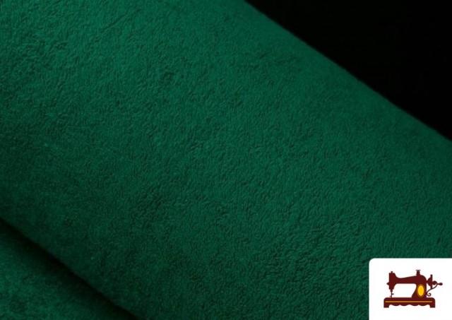 Venta de Tela para Toallas Rizo 100% Algodón de Colores color Verde botella