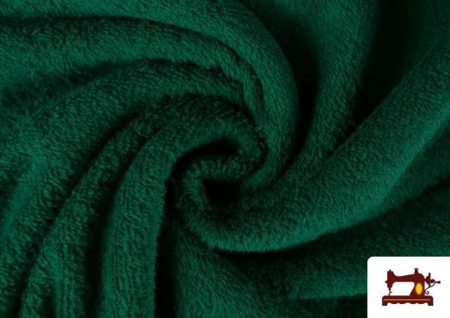 Venta online de Tela para Toallas Rizo 100% Algodón de Colores color Verde botella
