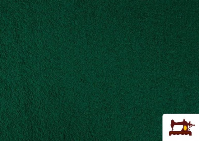 Comprar online Tela para Toallas Rizo 100% Algodón de Colores color Verde botella