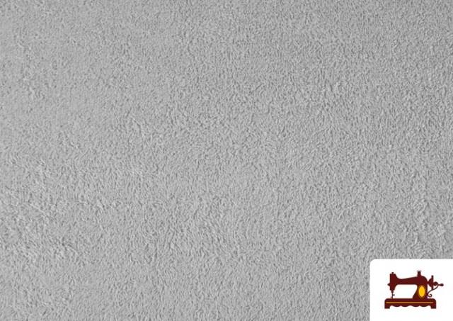 Comprar online Tela para Toallas Rizo 100% Algodón de Colores color Gris claro