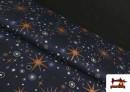 Venta online de Tela de Algodón de Cielo Estrellado Navideño color Azul
