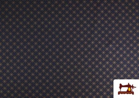 Venta de Tela de Algodón de Estrellas Color Cobre