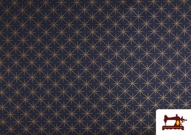Comprar online Tela de Algodón de Estrellas Color Cobre