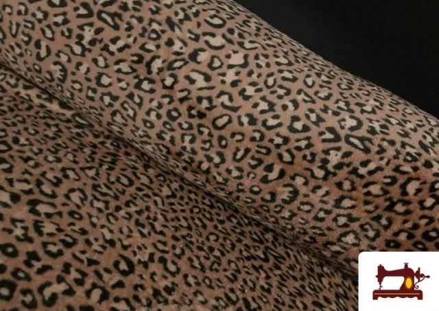 Tela de Coralina Polar Suave de Leopardo