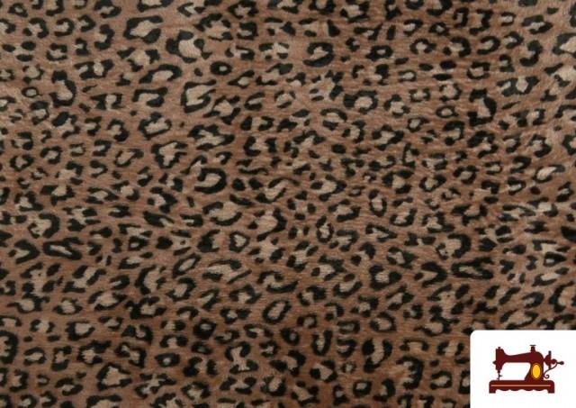 Venta de Tela de Coralina Polar Suave de Leopardo