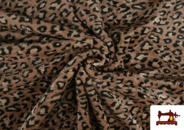 Comprar online Tela de Coralina Polar Suave de Leopardo