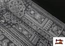 Tela de Coralina Polar Suave dibujo Cachemir