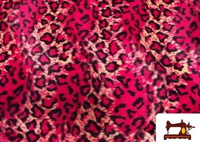 Comprar Tela de pelo Leopardo rosa