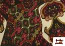 Venta online de Tela de Punto de Jersey Estampado Mosaicos color Rojo