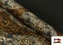 Comprar Tela de Punto de Jersey Floral y Animal print color Marrón