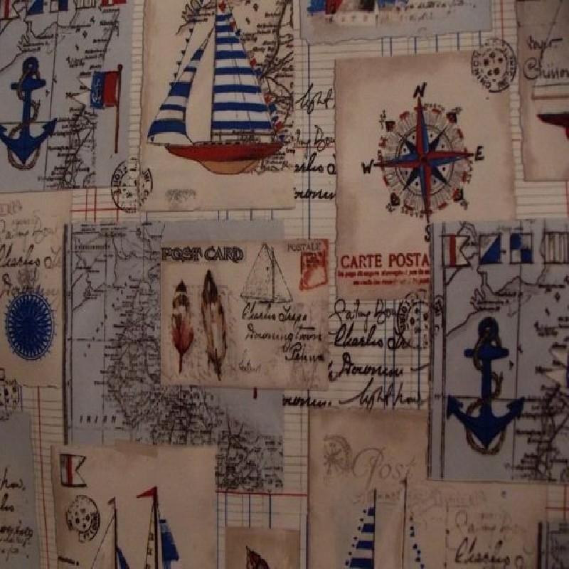 tela barcas y motivos marineros