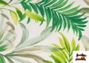 Comprar online Tela Loneta Estampada con Flores Tropicales