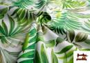 Venta online de Tela Loneta Estampada con Flores Tropicales