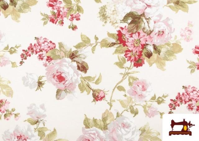 Comprar Tela de Loneta con Estampado Floral