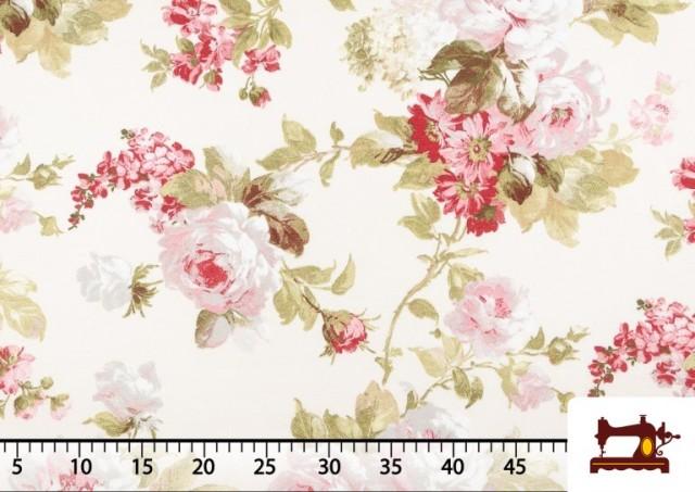 Venta de Tela de Loneta con Estampado Floral