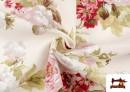 Tela de Loneta con Estampado Floral