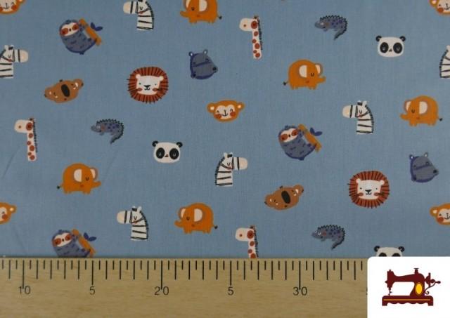 Venta online de Tela de Algodón Caricaturas de Animales