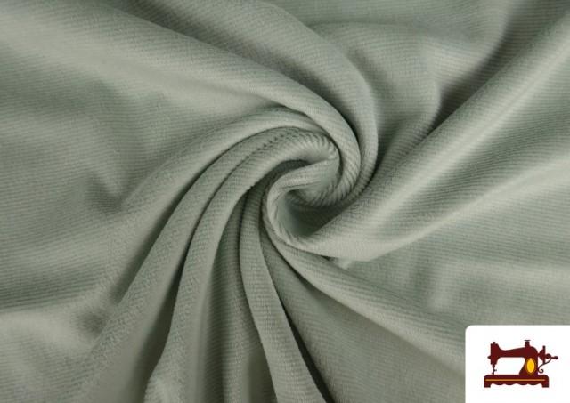 Venta online de Punto de Terciopelo Estilo Pana color Verde mint