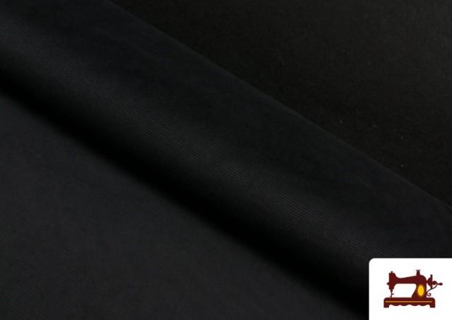 Punto de Terciopelo Estilo Pana color Negro