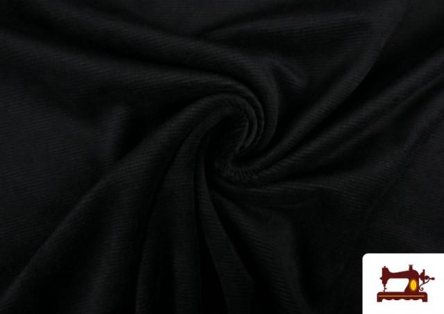 Comprar Punto de Terciopelo Estilo Pana color Negro