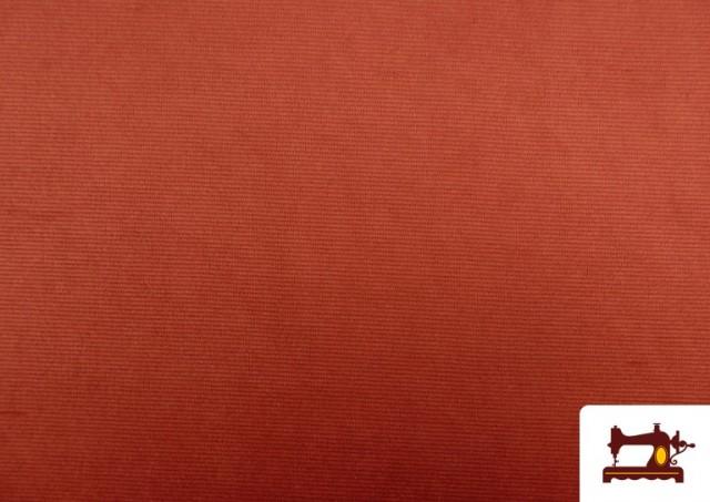 Comprar online Punto de Terciopelo Estilo Pana color Teja