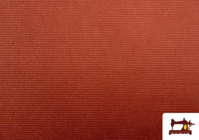 Venta online de Punto de Terciopelo Estilo Pana color Teja